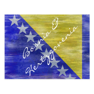 Bosnia y bandera apenada Herzegovina Postal