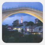 Bosnia y Hercegovina - Mostar. El puente viejo 2 Pegatina Cuadrada
