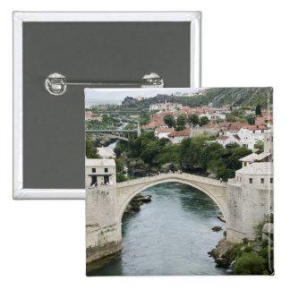 Bosnia y Hercegovina - Mostar. El puente viejo Pin Cuadrado