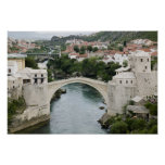 Bosnia y Hercegovina - Mostar. El puente viejo Póster