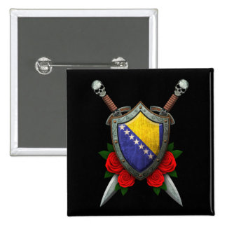 Bosnia y Herzegovina gastado señala el escudo y la Pins