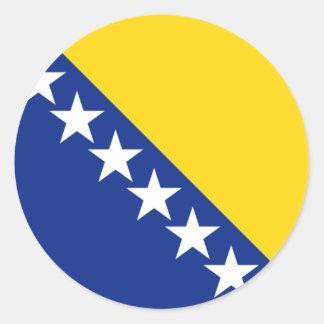 Bosnia y Herzegovina Pegatina Redonda