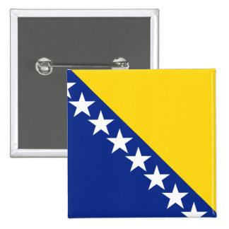 Bosnia y Herzegovina Pin Cuadrado