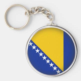 Bosnia y Herzegovina redondo Llavero Personalizado
