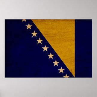Bosnia y Herzegovina señala por medio de una bande Póster