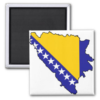 Bosnia y Herzegovina traza VAGOS Imán Cuadrado