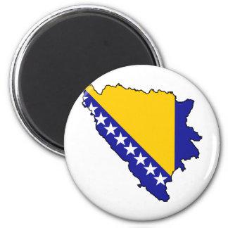 Bosnia y Herzegovina traza VAGOS Imán Redondo 5 Cm