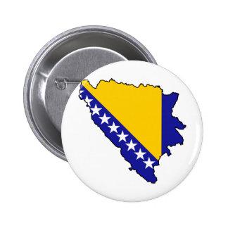 Bosnia y Herzegovina traza VAGOS Pin Redondo De 2 Pulgadas