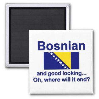 Bosníaco apuesto imán cuadrado