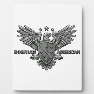 Bosnian American Themed Apparel Plaque