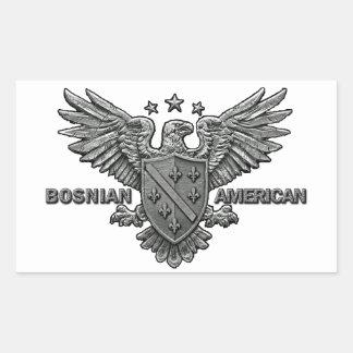 Bosnian American Themed Apparel Rectangular Sticker
