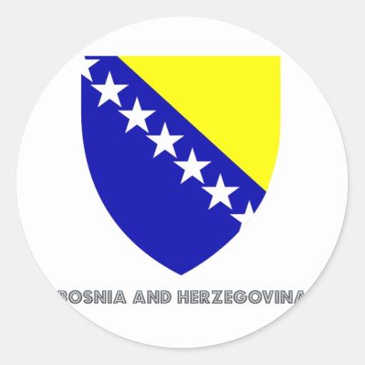 Bosnian Emblem Round Sticker
