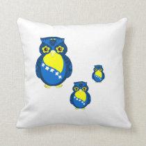 Bosnian Flag Owl pillow