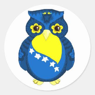 Bosnian Flag Owl sticker