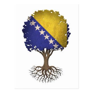 Bosnian Flag Tree of Life Customizable Postcard
