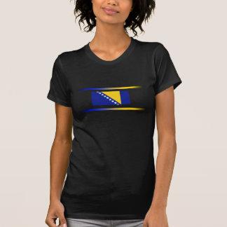 Bosnian Flag with Spectrum Lights T Shirts