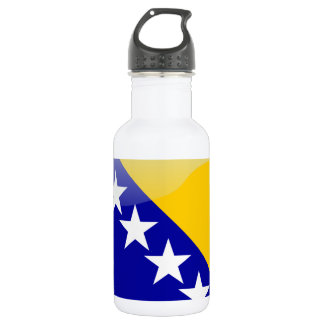 Bosnian glossy flag water bottle