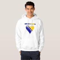 Bosnian heart hoodie