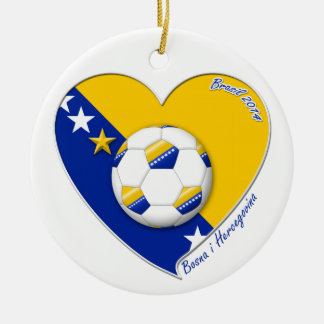 "Bosnian National Soccer Team. Soccer ""BOSNA"" 2014 Ceramic Ornament"
