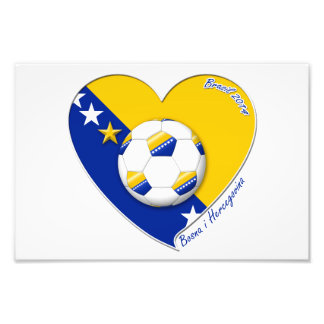 """Bosnian National Soccer Team. Soccer """"BOSNA"""" 2014 Art Photo"""