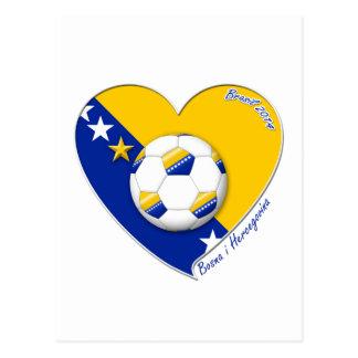 """Bosnian National Soccer Team. Soccer """"BOSNA"""" 2014 Postcard"""