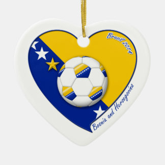 "Bosnian National Soccer Team Soccer BOSNIA"" 2014 Ceramic Ornament"