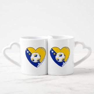 "Bosnian National Soccer Team Soccer BOSNIA"" 2014 Couples Coffee Mug"
