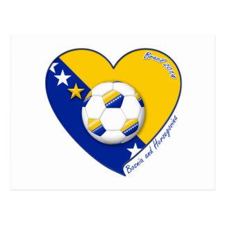 """Bosnian National Soccer Team Soccer BOSNIA"""" 2014 Postcard"""