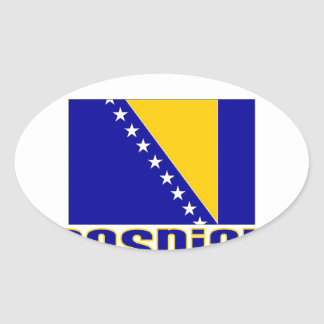 Bosnian Oval Sticker