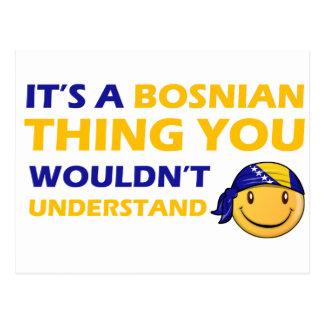 BOSNIAn smiley design Postcard