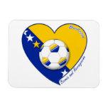 "Bosnian Soccer National Team  Fútbol BOSNIA"" 2014 Imanes Flexibles"