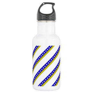 Bosnian stripes flag water bottle