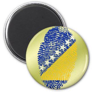 Bosnian touch fingerprint flag 2 inch round magnet