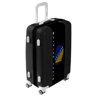 Bosnian touch fingerprint flag luggage