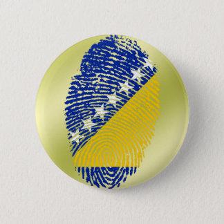 Bosnian touch fingerprint flag pinback button