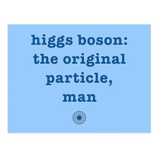 Bosón de Higgs, la partícula original, humor del Postal