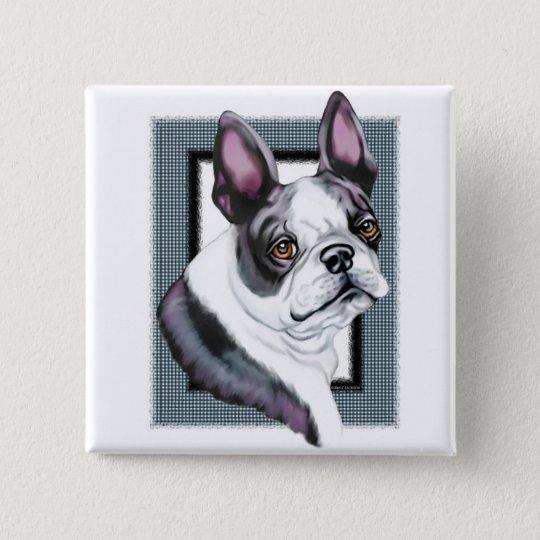 Boson Terrier Boston Style Button