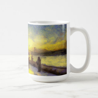 Bosphorus Istanbul Sunset Art Coffee Mug
