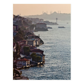 Bosporus in sunset postcard