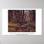 Bosque a finales de la caída por Friedrich Caspar  Poster