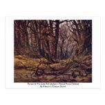 Bosque a finales de la caída por Friedrich Caspar  Postal