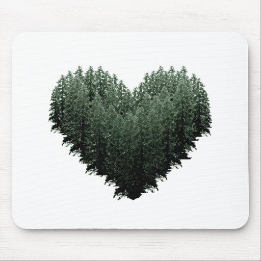 Bosque al aire libre del corazón del árbol de los  tapetes de ratones