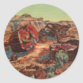 Bosque aterrorizado Arizona Etiquetas Redondas
