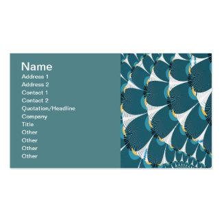 Bosque blanco con arte abstracto del pavo real tarjetas personales