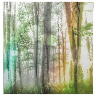 Bosque borroso servilleta