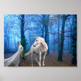 Bosque brumoso póster