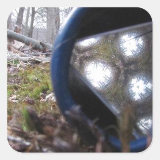 Bosque caleidoscópico pegatina cuadrada