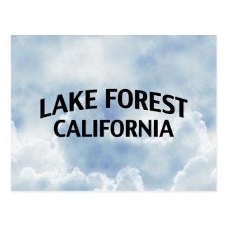 Bosque California del lago Postal
