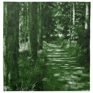 bosque, camuflaje servilleta