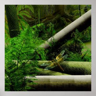 bosque carbonífero póster